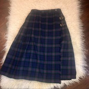 Vintge Pendleton Baird Tartan Virgin Wool Skirt-10